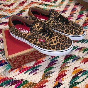 Cheetah print lace up vans